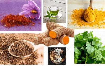 Quercetin, rutin, saffron and turmeric